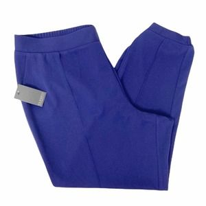 Eloquii blue pull on flat front jogger pants